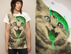 фото Футболка с принтом кота Drop Dead Clothing - Real Kitty