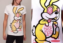 фото Футболка с принтом зайца Drop Dead Clothing - Rabbit