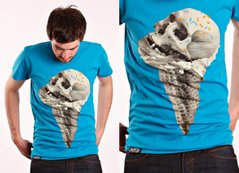 фото Футболка с принтом Drop Dead Clothing - Skull Cone (blue)