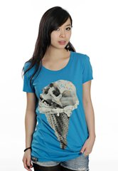 фото Футболка Drop Dead Clothing Skull Cone (blue)