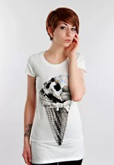 фото Футболка Drop Dead Clothing Skull Cone white