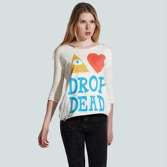 фото Свитер Топ Drop Dead Clothing - Eye Heart Drop Dead Knit Top