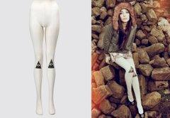 фото Колготки Drop Dead Clothing - Knee Visions Tights з принтом ока
