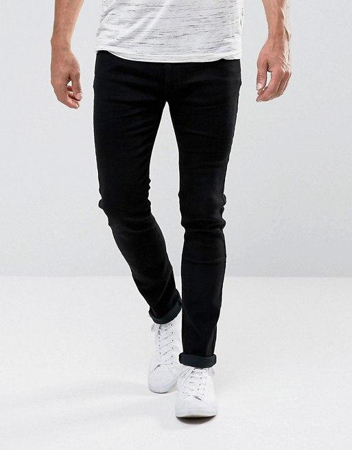 8a21ae3423e фото Черные джинсы скинни D-Struct Almaya