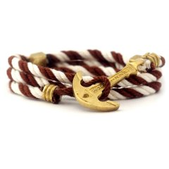 фото Браслет с якорем Anchor Stuff Maritime New Atlantic Line Brown White